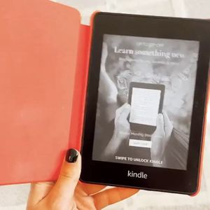 Kindle Paperwhite- Black w/ Red case (Used once) for Sale in Oceanport, NJ