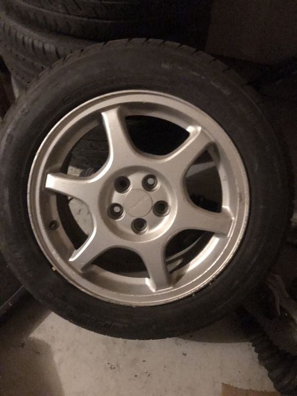 02 Subaru wrx wheels and tires 5x100 (only 3)