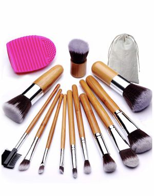 Brand new in bag Makeup Brush Set, Bamboo Handle Premium Synthetic Kabuki Foundation Blending Blush Eyeshadow Concealer Powder Brush Kit, with 1 Brus for Sale in Arnold, MO