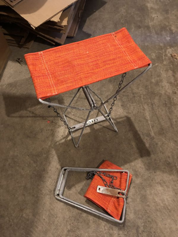 2 Vintage Camping Chair/Stool