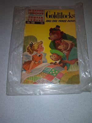 1966 CLASSICS ILLUSTRATED JUNIOR NO.508 GOLDILOCKS AND THE THREE BEARS for Sale in Naperville, IL