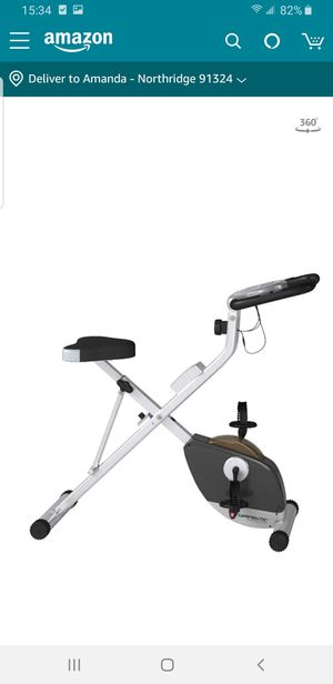 Exerpeutic Folding Magnetic Upright Exercise Bike with Pulse for Sale in Los Angeles, CA