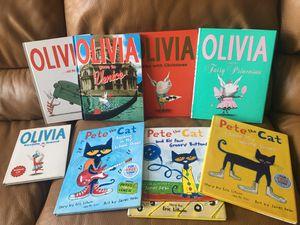 Hardback Children's Books Pete the Cat, Olivia & more for Sale in Victoria, TX