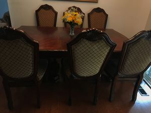 Dining table with six chairs for Sale in Lynnwood, WA