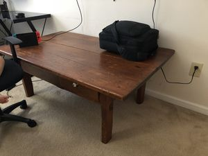 Antique wood table for Sale in Durham, NC