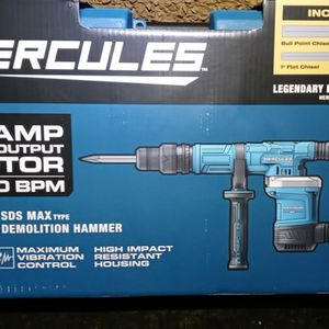 Hercules 10 Amp 12 lb. SDS Max-Type Demo Hammer 56846 for Sale in Seattle, WA
