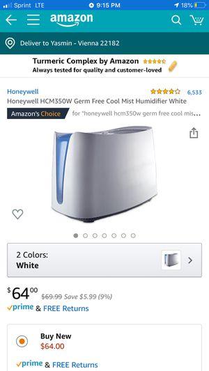 Honeywell HCM350 germ free humidifier for Sale in Arlington, VA