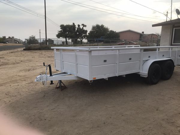 16 foot utility trailer new floor 3200 or best offer