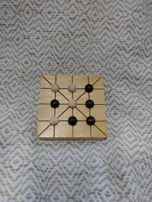 Unique tic tac toe board game made with real wood for Sale in Dublin, GA