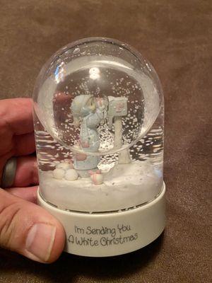 "Enesco Precious Moments ""I'm sending you a white Christmas"" snow dome globe 4 1/2 inches tall . In original box. E-2829 for Sale in Gilbert, AZ"