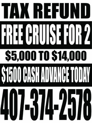 Free cruise for 2 with tax return for Sale in Orlando, FL
