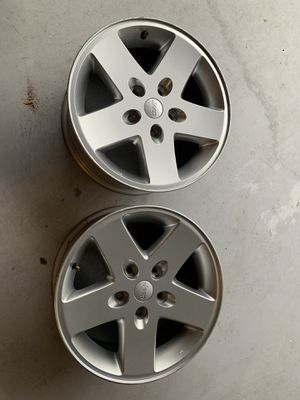 2015 Jeep Wrangler stock rims x 2 for Sale in Fort Lauderdale, FL