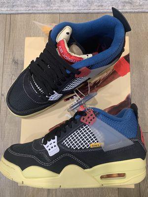 Nike Air Jordan 4 Retro Union OFF Noir BAE SIZE Mens Sz 5 Womens Sz 6.5 Brand New for Sale in Hayward, CA
