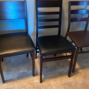 3chairs 2 are Foldable $25 For All Three Are in Good Condition for Sale in Mountain View, CA
