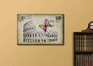 ((FREE SHIPPING)) sketching of roma with a brightly splashed butterfly - canvas art home decor Painting like print for Sale in Coronado, CA