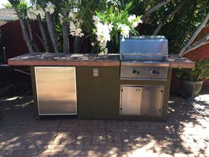 DCS BBQ in 9 foot Island with Fridge for Sale in Sacramento, CA