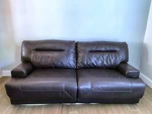RECLINING LEATHER SOFA and CHAIR for Sale in Plum, PA