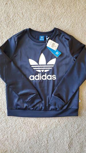 New Adidas Navy Women Trefoil Sweatshirt, Size M, Crew for Sale in Kirkland, WA
