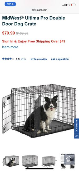 Dog Crate w/ divider for Sale in Rochester, MN