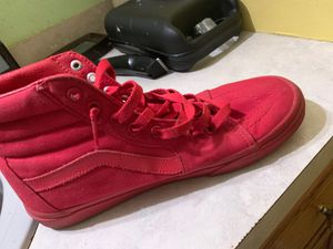 Red vans shoes for Sale in Tobyhanna, PA