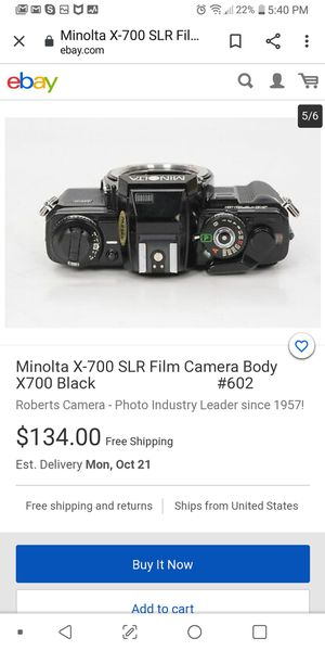 Minolta X700 35mm film camera for Sale in San Jose, CA