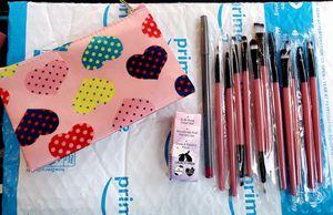 Makeup brushes, bag, lip pencil, lip moisturizer. NEW for Sale in Rancho Santa Margarita, CA