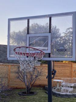 "Lifetime 54"" Acrylic Portable Basketball Hoop for Sale in Altadena,  CA"