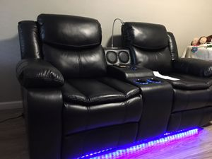 SOFA AND LOVESEAT LIVING ROOM FURNITURE POWER RECLINER BLUETOOTH SPEAKERS CHARGING PORTS 39 down payment for Sale in Dallas, TX