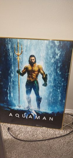 Aquaman movie theater poster board for Sale in Nampa,  ID