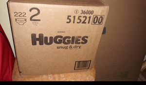 Huggies Pampers snug & dry size 2 for Sale in New York, NY