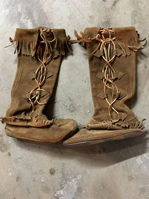 Authentic Indian Moccosins from New Mexico or Arizona In the late 70s From roadside reservation for Sale in Fresno, CA