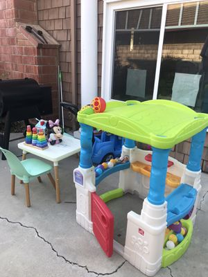 Kids toy house, table with chairs, and push car. for Sale in San Clemente, CA