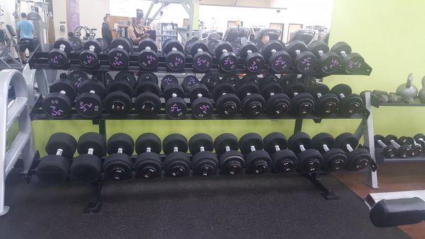 Huge Lot Of Dumbbells,Dumbbell Racks, Handles, Barbell Sets, Kettle Bells, Slam Ball & Racks, Home Gym