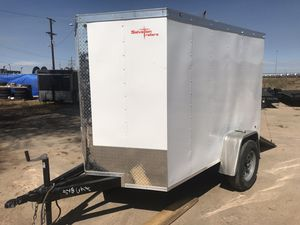 Brand new 2020 5x8 plus a v-nose enclosed cargo trailer! for Sale in Brighton, CO