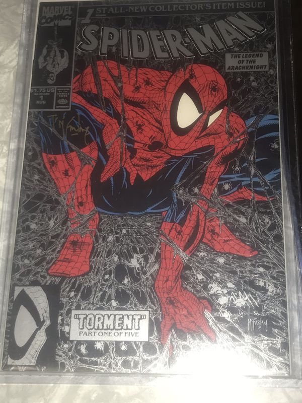 Todd Mcfarlanes Spider-Man #1 autographed