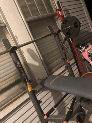 Weight bench with weights for Sale in Lincoln, NE