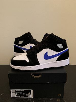 Air Jordan 1 Mid White Racer Blue Orange Black Size 7 7Y (Pick Up) for Sale in Sunrise, FL