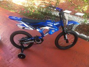 Amazing kids bicycle bike bicicleta Yamaha motorcycle style for Sale in Aventura, FL