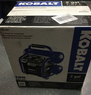 Kobalt 2 gal twin stack air Compressor 125 Max psi new Sealed #0819961 for Sale in Reynoldsburg, OH