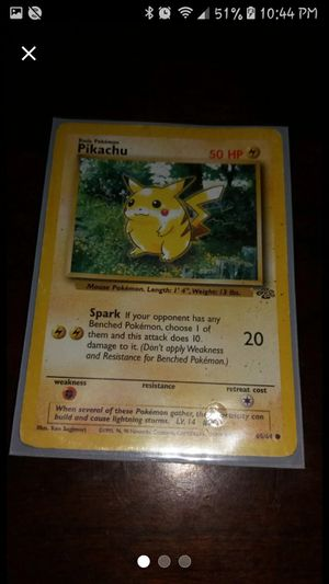1995 rare Pokemon Pikachu card + 80 more for Sale in LaBelle, FL