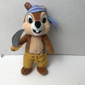 Disney Pirate Chip Chip n Dale Beanie Plush Stuffed Animal for Sale in Avon Lake, OH