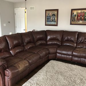 Leather Sectional for Sale in Lockport, IL