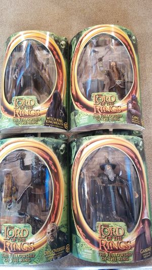 Lord Of The Rings action figures. Never opened for Sale in Bethel Park, PA