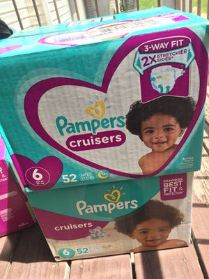 Pampers Cruisers Diapers Size 6 (52) Count for Sale in Woods Cross, UT