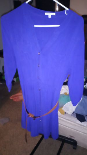 Charlotte Russe purple dress with a belt extra large for Sale in San Antonio, TX