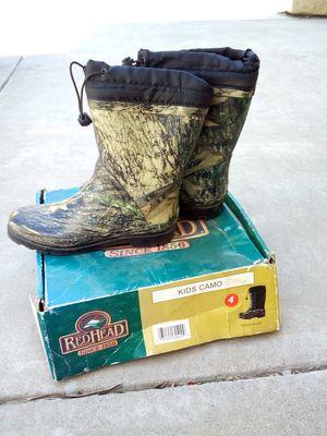 Rain boots size4 for Sale in Stockton, CA