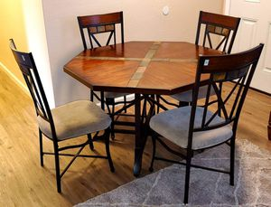Beautiful Solid wood and Slate dining set for Sale in Chula Vista, CA