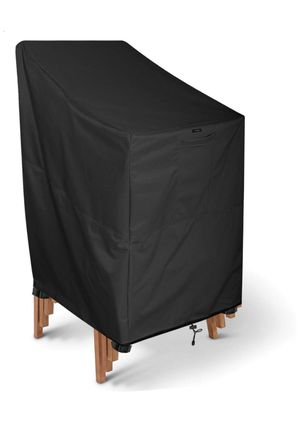 KHOMO Gear - Panther Series - Stackable Chair Cover - Heavy Duty Premium Outdoor Furniture Protector - Black, Grey. for Sale in Miami Gardens, FL