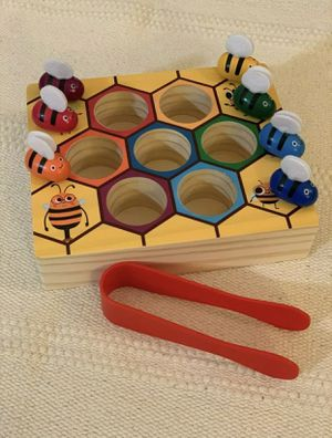 Bee Hive Preschool Educational Wooden - Montessori - Picking Catching Bees for Sale in Tamarac, FL