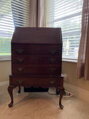 Antique flip down secretary desk for Sale in Miami, FL